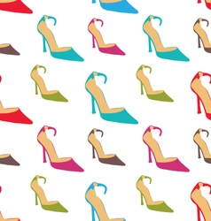 Seamless Texture with Women Summer Shoes vector image