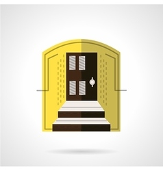 Entrance of house flat color icon vector