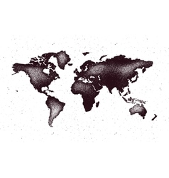 World map in grunge style vector