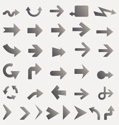 Arrow Icons and Signs vector image