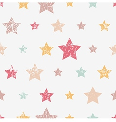 Seamless childish pattern with stars grunge style vector