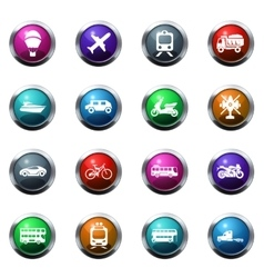 Transport types icons set vector