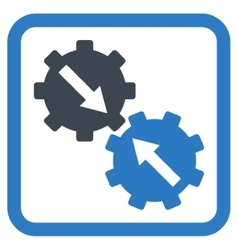 Gear Integration Flat Icon vector image