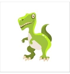 Green Tyrannosaurus Flat vector image