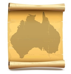 Paper scroll with australia vector
