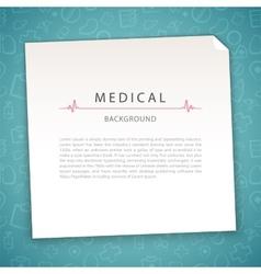 Aquamarine Medical Background vector image vector image