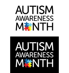 Autism awareness month vector
