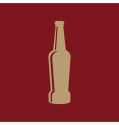 Bottle of beer icon Beer and pub bar symbol UI vector image vector image