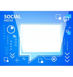 bright speech bubble on blue background for vector image