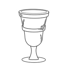 Chalice cartoon isolated vector