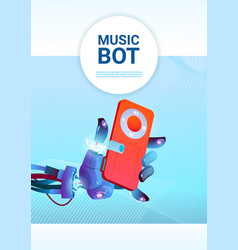 Chat bot music robot virtual assistance of website vector