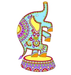 Colored drawing of circus theme - elephant vector