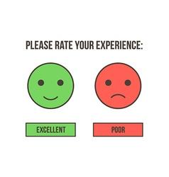 Customer service rating vector