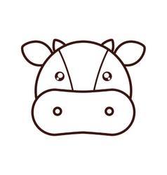 cute cow kawaii style vector image