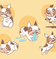 Cute stylized and playful cartoon dogs vector image vector image
