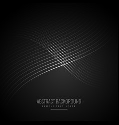 Dark background with shiny flowing lines vector