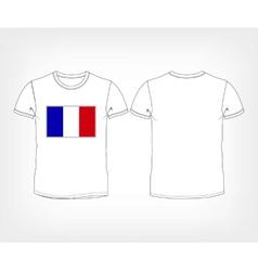 France flag shirt football soccer ball vector image vector image