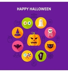 Happy Halloween Infographic Concept vector image