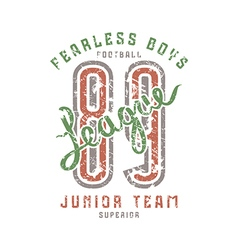 Junior football team emblem in retro style vector image vector image