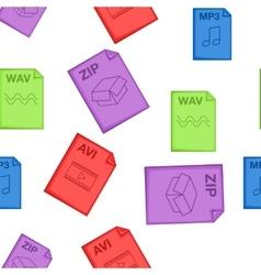 Kind of files pattern cartoon style vector