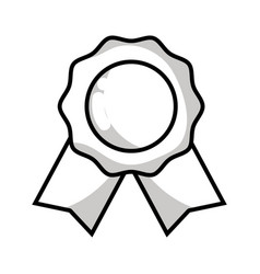 Line medal symbol to winner of competition game vector