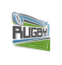 logo of rugby vector image