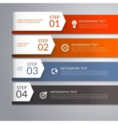 Modern arrow infographic template vector image vector image
