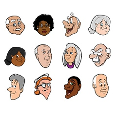 old faces vector image