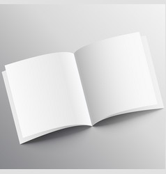 Open book mockup design template vector