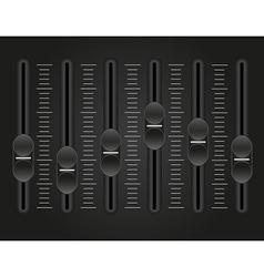 Panel console sound mixer 01 vector