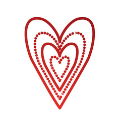 red heart love happy celebration icon vector image vector image