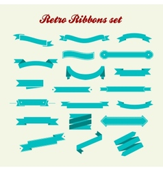 Retro styled ribbons collection vector