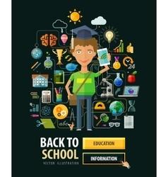 School logo design template education or vector