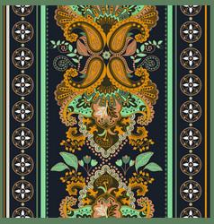 Seamless border with decorative ethnic vector