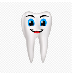 smile healthy tooth vector image