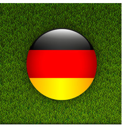 Soccer green grass pattern field with germany flag vector