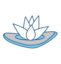 spa lotus symbol vector image