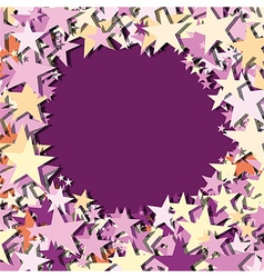 Stars center text place vector