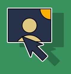 Sticker web design elements picture mouse arrow vector