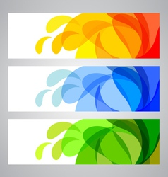 Summer and Spring Banners vector image