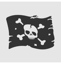 Symbol pirate flag vector