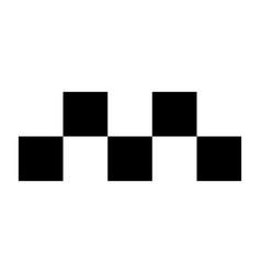 taxi symbol the black color icon vector image vector image