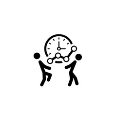 Time for growth icon business concept vector