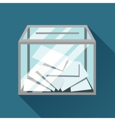 Voting papers in ballot box Political elections vector image