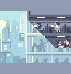 work in office vector image vector image