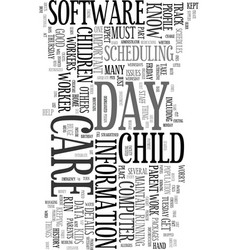 Your computer as day care worker text word cloud vector