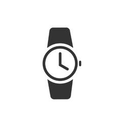 Watch icon  black wristwatch vector