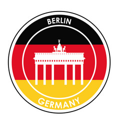 Germany design culture icon flat vector