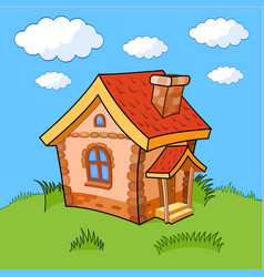 cartoon house vector image