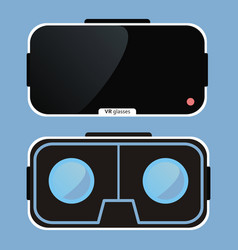 Virtual reality glasses vr technology vector